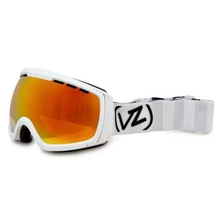 VonZipper Feenom Ski Goggles in White Satin/Fire Chrome - Closeouts