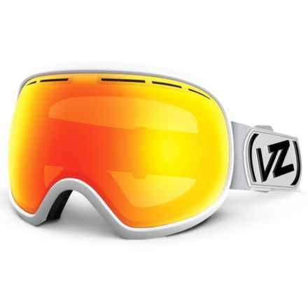 VonZipper Fishbowl Ski Goggles - Extra Lens in White Satin/Fire Chrome - Closeouts