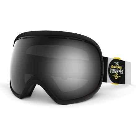 VonZipper Fishbowl Snowsport Goggles - Extra Lens in Black Satin/Black Chrome - Closeouts