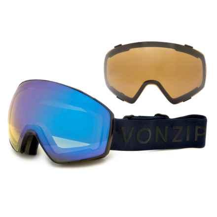 VonZipper Jetpack Ski Goggles - Extra Lens in Burnt Orange Satin/Blackout - Closeouts