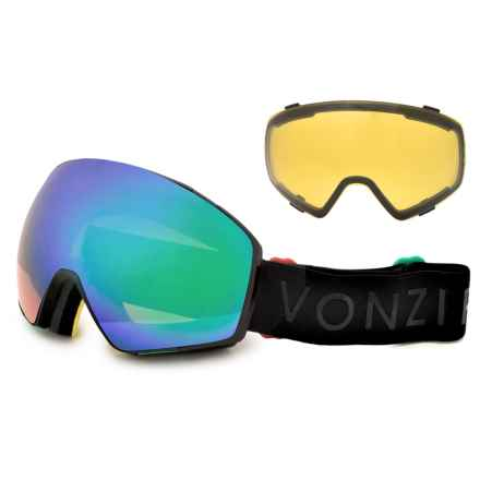VonZipper Jetpack Ski Goggles - Extra Lens in Vibrations Black Satin/Quasar Chrome - Closeouts