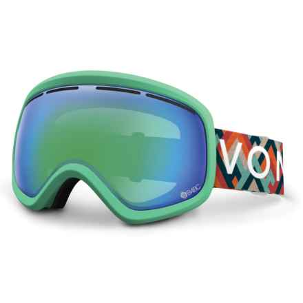 VonZipper Skylab Ski Goggles in B4bc/Quasar Chrome - Closeouts