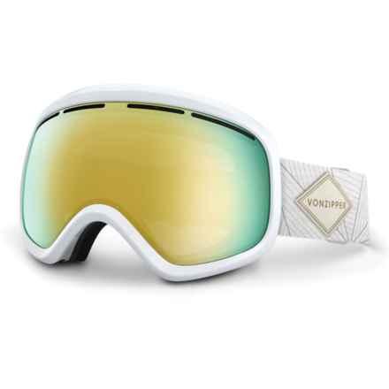 VonZipper Skylab Ski Goggles in White Gloss/Gold Chrome - Closeouts