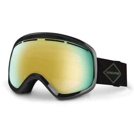 VonZipper Skylab Snowsport Goggles in Black/Gold Chrome - Closeouts