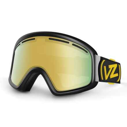 VonZipper Trike Snowsport Goggles (For Kids) in Black Gloss/Gold Chrome - Closeouts