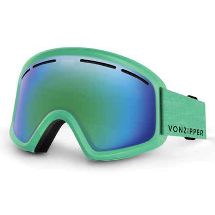 VonZipper Trike Snowsport Goggles (For Kids) in Mint Satin/Quasar Chrome - Closeouts