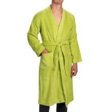 Vossen Tokio Supersoft Bathrobe - Cotton Terry (For Men and Women) in Meadow Green - Closeouts