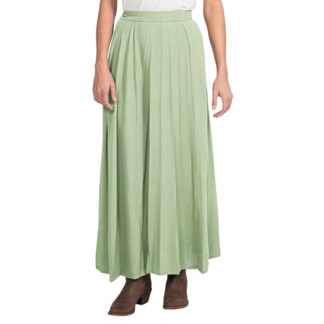 Wahmaker Old West Long Skirt - 5-Gore (For Women) in Pistachio