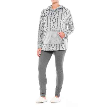 Wake & Wear Frosted Fleece Hoodie and Leggings Set - 2-Piece (For Women) in Forged Iron - Closeouts