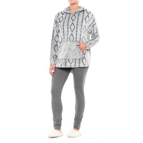 Wake & Wear Frosted Fleece Hoodie and Leggings Set - 2-Piece (For Women)