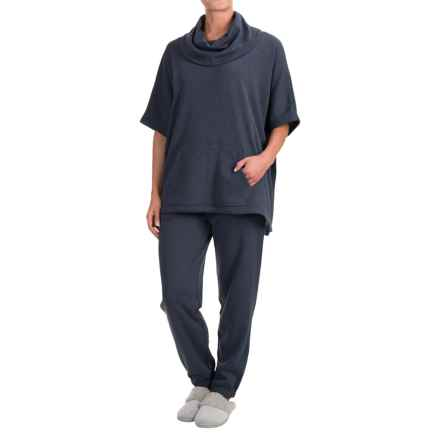 Wake & Wear Poncho and Joggers Set - 2-Piece (For Women) in Navy - Closeouts
