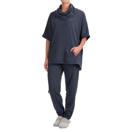 Wake & Wear Poncho and Joggers Set - 2-Piece (For Women) in Navy