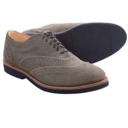 Walk-Over Cambridge Midi Oxford Shoes - Suede, Wingtips (For Men) in Grey Suede