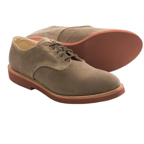 Walk-Over Derby Oxford Shoes - Leather (For Men) in Brown Wax Cloth
