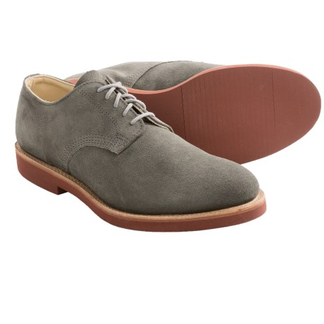 Walk-Over Derby Oxford Shoes - Leather (For Men) in Grey Suede