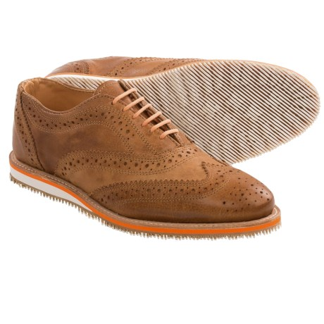 Walk-Over Memphis Oxford Shoes - Wingtips (For Men) in Scott Tan