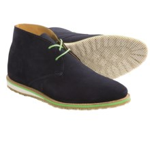 Walk-Over Nashville Lace-Up Boots (For Men) in Navy Suede - Closeouts