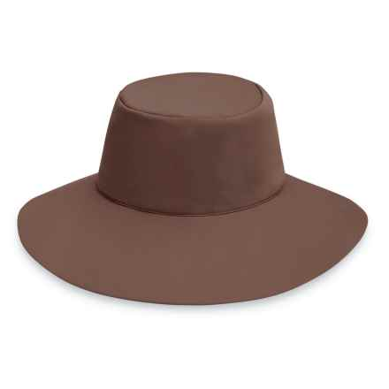 "Wallaroo Packable Aqua Hat - UPF 50+, 3-1/2"" Brim (For Women) in Mocha - Closeouts"