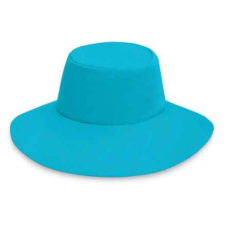"Wallaroo Packable Aqua Hat - UPF 50+, 3-1/2"" Brim (For Women) in Turquoise - Closeouts"