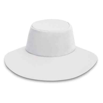 "Wallaroo Packable Aqua Hat - UPF 50+, 3-1/2"" Brim (For Women) in White - Closeouts"