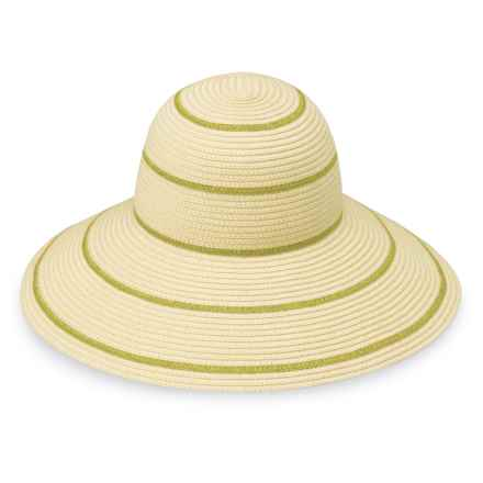 Wallaroo Savannah Sun Hat - UPF 50+ (For Women) in Natural/Pistachio - Closeouts