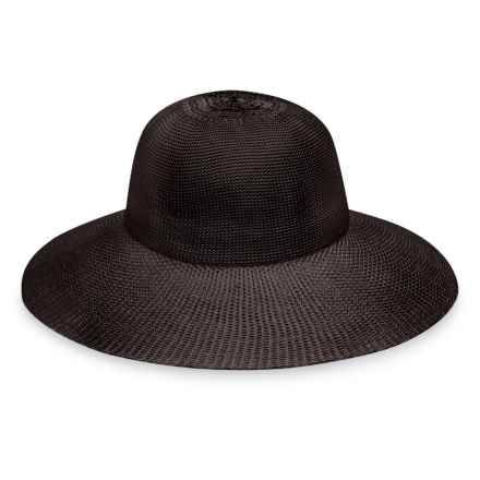 Wallaroo Victoria Diva Sun Hat - UPF 50+ (For Women) in Chocolate - Closeouts