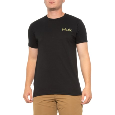 Walleye Crest T-Shirt - Short Sleeve (For Men) - BLACK (L )