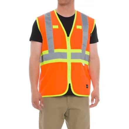 Walls ANSI II Premium Safety Vest (For Men) in Hi Vis Orange - 2nds