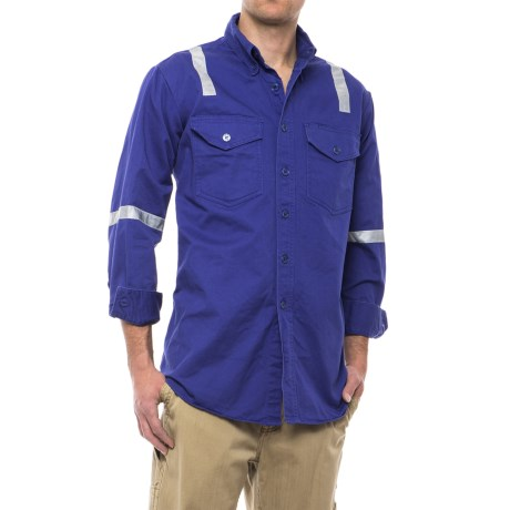 Walls Button-Front Twill Uniform Shirt - Long Sleeve (For Men) in Blue