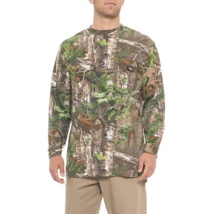 Walls Camo T-Shirt - Long Sleeve (For Men) in Realtree Extra Green - Closeouts