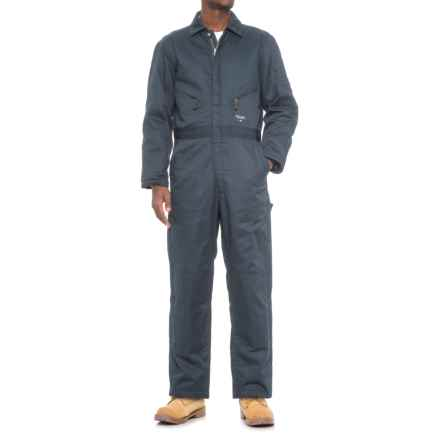 Walls Classic Hip-Zip Coveralls - Insulated (For Men) in Navy - Closeouts