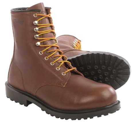 Walls Daxton Work Boots Leather, Steel Toe, 8 (For Men)
