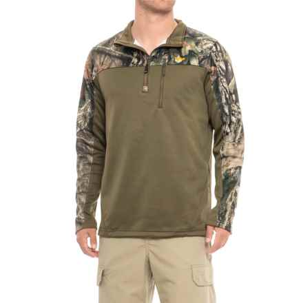 Walls Fleece Pullover Shirt - Zip Neck, Long Sleeve (For Men) in Mossy Oak Country - Closeouts