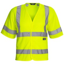 Walls Hi-Vis Mesh Safety Vest (For Men) in Hi-Vis Yellow - Closeouts