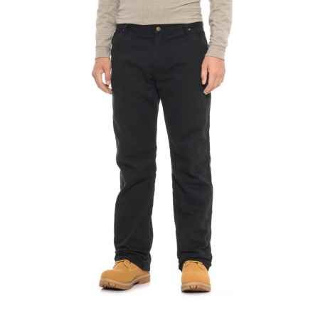 Walls Lined Duck Carpenter Pants (For Men) in Black - Closeouts