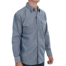 Walls Ranchwear Jean Shirt - Snap Front, Long Sleeve (For Men) in Washed Denim Blue - Closeouts