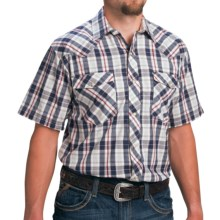 Walls Ranchwear Plaid Shirt - Short Sleeve (For Men) in Navy/Red Plaid - Closeouts