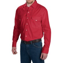 Walls Ranchwear Solid Twill Shirt - Snap Front, Long Sleeve (For Men) in Red - Closeouts