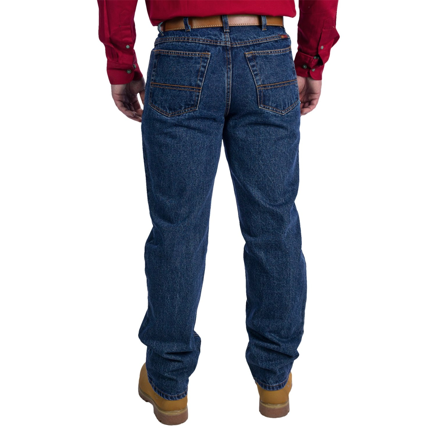 Relaxed Fit Bootcut Jeans For Men