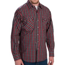 Walls Ranchwear Stripe Plaid Shirt - Button Front, Long Sleeve (For Men) in Red/Black - Closeouts