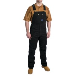 Walls Workwear Big Smith Washed Duck Bib Overalls (For Men) in Black