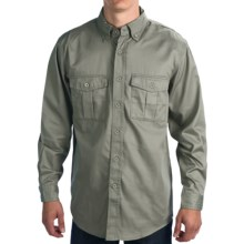 Walls Workwear Vented Cape Back Shirt - Long Sleeve (For Men) in Sage - Closeouts