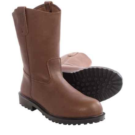 Walls Wyatt Wellington Work Boots - Leather, Steel Toe (For Men) in Brown - Closeouts
