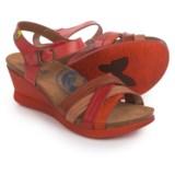 Wanda Panda Mia Sandals - Leather, Wedge Heel (For Women)