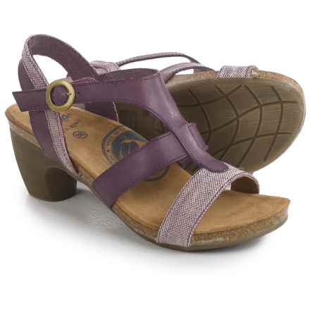 Wanda Panda T-Strap Sandals - Leather (For Women) in Purple/Lavender - Closeouts