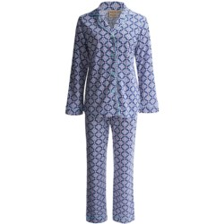 Warm Milk Classic Pajamas - Long Sleeve (For Women) in Red Paisley