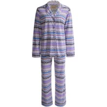 Warm Milk Classic Pajamas - Long Sleeve (For Women) in Purple Zig Zag - Closeouts