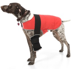 Warm Whiskers Pet Therapy Jacket with Gel Packs - Large in Black/Red
