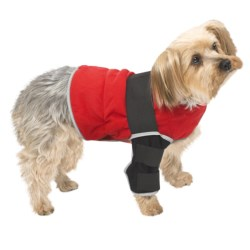 Warm Whiskers Pet Therapy Jacket with Hot/Cold Packs - XS, Reversible/Reflective in Black/Red