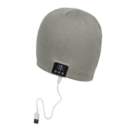 Warriors & Scholars WS Wireless Bluetooth® Beanie - Built-In Headphones in Grey
